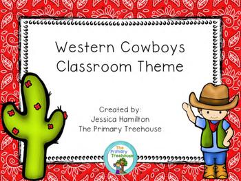 Western Cowboy Classroom Theme Decor - EDITABLE!