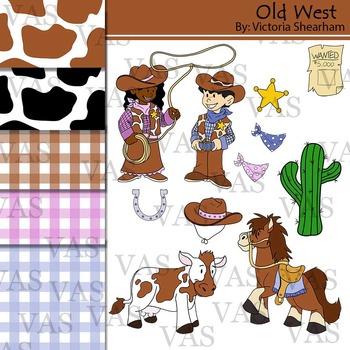 Western Cowboy Clip Art clipart