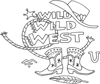 Western Cowboy Coloring Pages - 38 Pages!