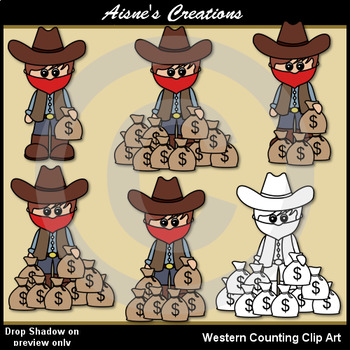 Western (Cowboy) Counting Clip Art
