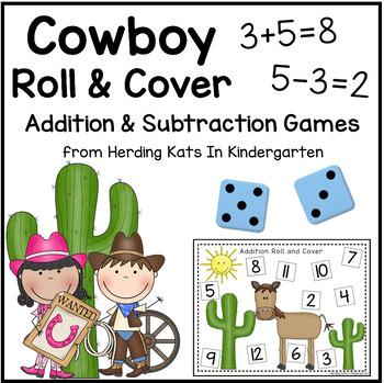Western Cowboy Math Addition & Subtraction Games!