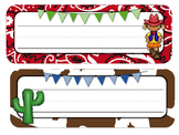Western Cowboy/ Cowgirl Theme Desk Tags and Name Plates {Editable}