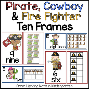 Western Cowboy, Fire Fighters & Pirates Ten Frames Pack!
