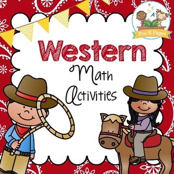 Western Cowboy Math Activities