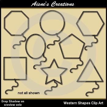 Western (Cowboy) Shapes Clip Art