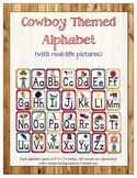Western/ Cowboy Themed ABC Printables (w/ real pictures)