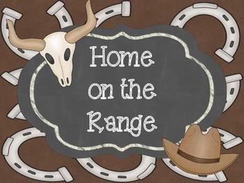 Western Cowboy Themed Behavior Clip Chart