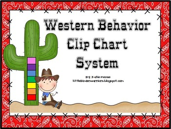 Western Cowboy Themed Behavior Clip Chart System {Classroo