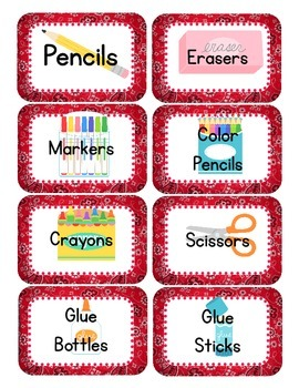 Western/ Cowboy Themed Classroom Supply Tags