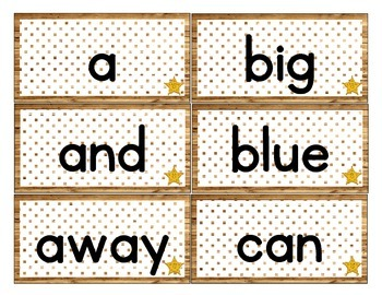 Western/ Cowboy Themed Decor Dolch Word Cards (Pre-Primer-3rd Grade)