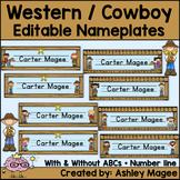 Western Cowboy Themed Nameplate/Deskplate/Nametag