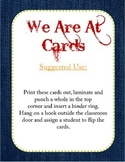 """Western/ Cowboy Themed """"Where We Are"""" Cards"""