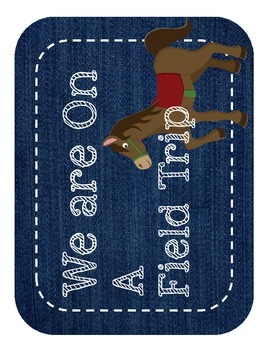 "Western/ Cowboy Themed ""Where We Are"" Cards"