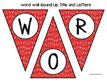 Western / Cowboy Word Wall Round-Up