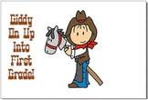 Western Cowboy and Cowgirl Beginning of the Year Postcards