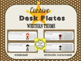 Western Cowboy and Cowgirl Cursive Desk Tags