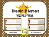 Western Cowboy and Cowgirl Theme Desk Tag