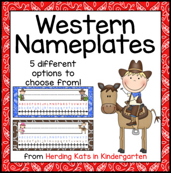 Western Cowboy (and girl!) Themed Nameplates
