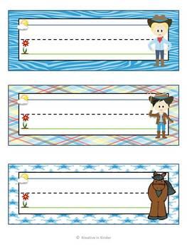 Western Cowboys & Cowgirls Theme Classroom Decor Set for Beginning of Year