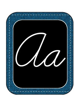 Western Cursive Alphabet