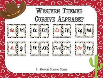 Cursive Alphabet Line: Western Themed