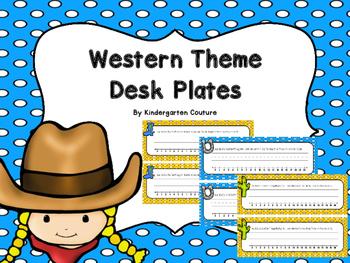 Western Desk Plates