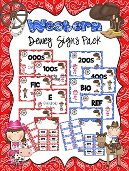Western Dewey Signs Pack