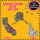 Western Doodle States Clip Art