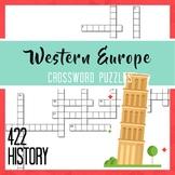 Western Europe Crossword Puzzles