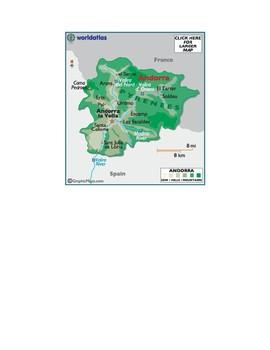 Western Europe Map Scavenger Hunt