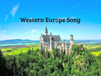 Western Europe Song and Test MP4 Video from Geography Songs by Kathy Troxel