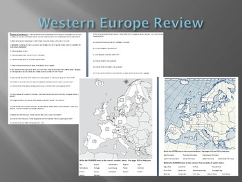 Western Europe Test Review and Test