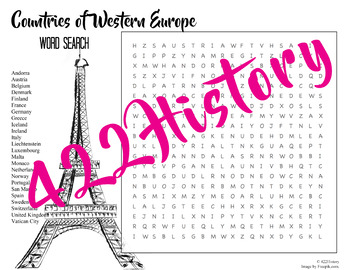 Western Europe Word Search