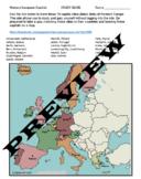 Western European Capitals Map Quiz, Matching Quiz, & Study Guide