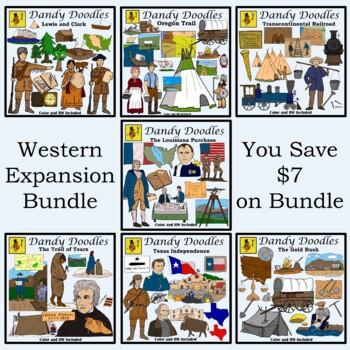 Western Expansion Bundled Clip Art by Dandy Doodles