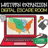 Western Expansion Digital Escape Room, Western Expansion Breakout Room Test Prep