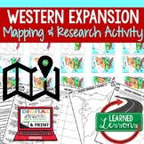 Western Expansion Mapping Activity Research PowerPoint Map