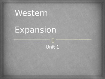 Western Expansion PowerPoint