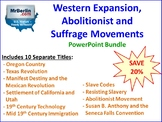 Western Expansion and the Abolitionist and Suffrage Moveme