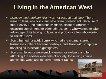 Western Expansion in the United States - Famous Lawmen of the Old West