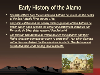 Western Expansion in the United States - The Battle of the Alamo