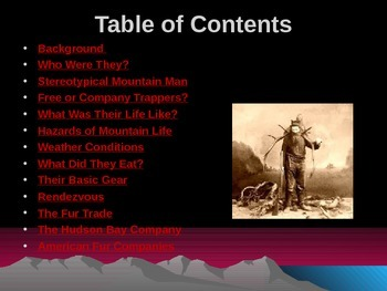 Western Expansion in the United States - The Mountain Men