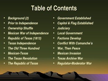 Western Expansion in the United States - The Quest for Texas Independence