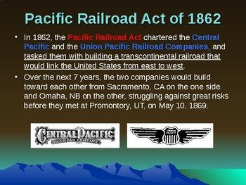 Western Expansion in the United States - Building the Transcontinental Railroad