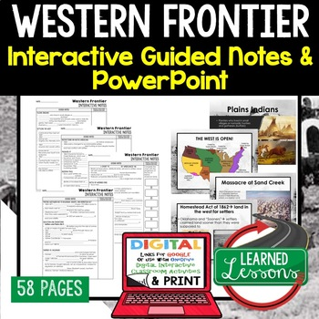 Western Frontier Guided Notes & PowerPoints, US History, Print, Digital,  Google