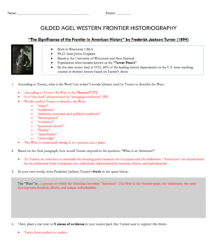 Western Frontier Historiography Questions + PowerPoint Lesson