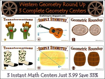 Western Geometry Round Up Math Centers