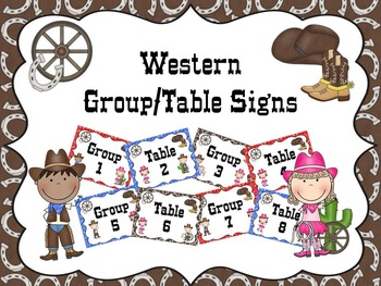 Western Group/Table Signs