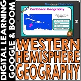 Western Hemisphere Map and Geography DIGITAL Cards Bundle