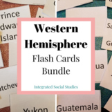 Western Hemisphere Flash Cards Bundle